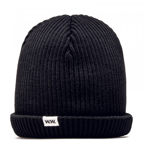 WoodWood Beanie Daci Ribbed Black