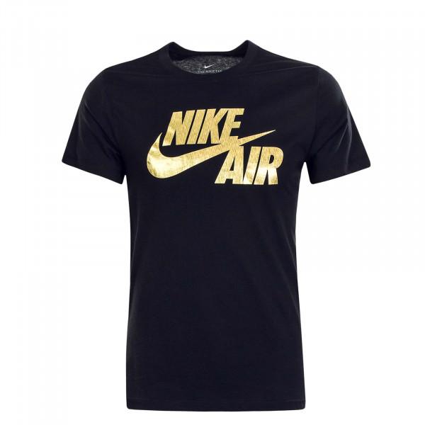 Herren T-Shirt NSW Preheat Nike Black Gold Foil