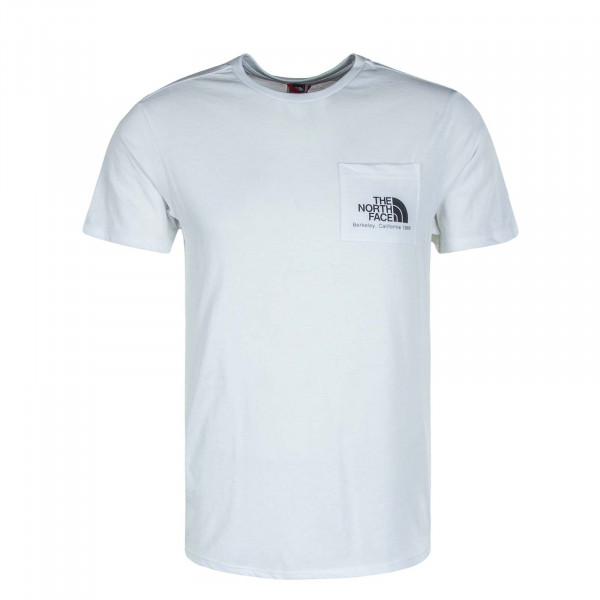 Herren T-Shirt Berkeley California Pocket White