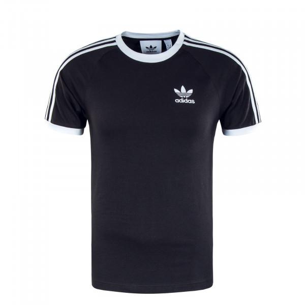 Herren T-Shirt - 3 Stripes - Black / White
