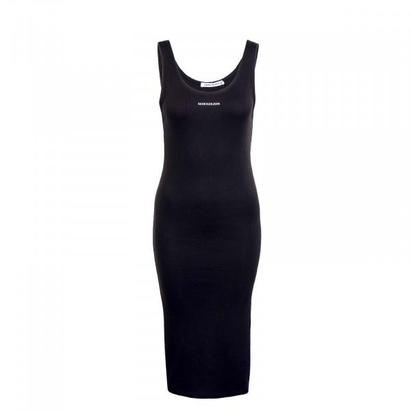 Damen Kleid - Micro Branding Strappy Rib - Black