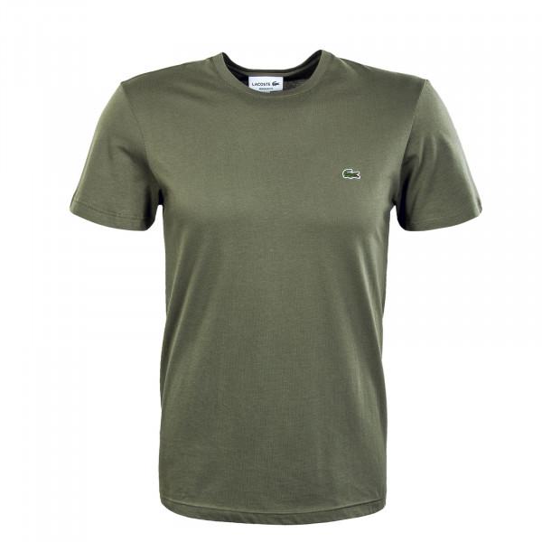 Herren T-Shirt - Short Sleeved Crew Neck -Khaki Grün