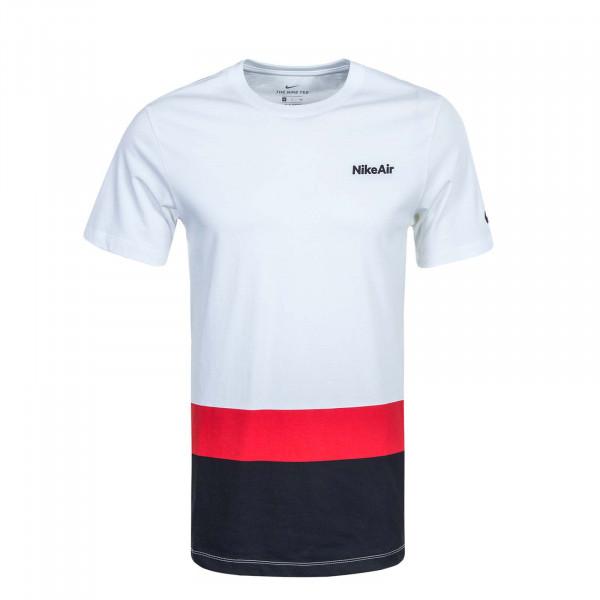 Herren T-Shirt Air Blocked CQ 5138 White Red