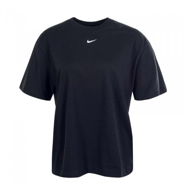 Damen T-Shirt NSW Essential SS BF Black White