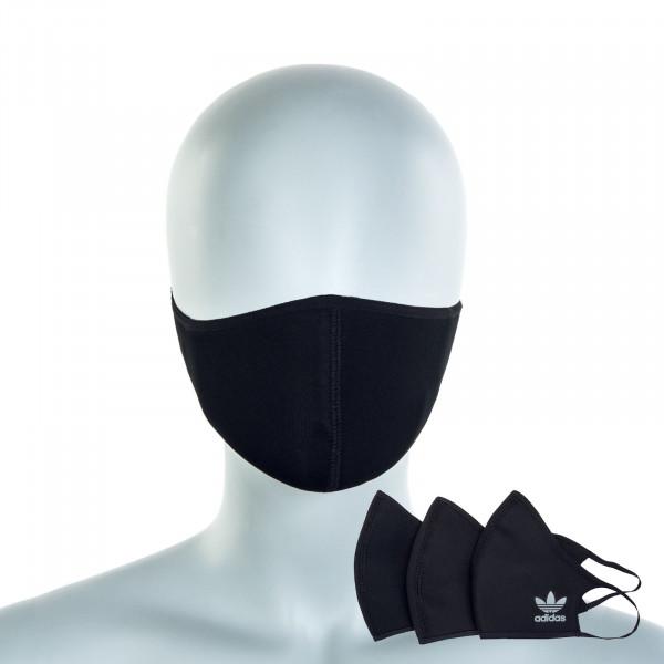 Alltagsmaske Face CVR M/L 3er-Pack Black White