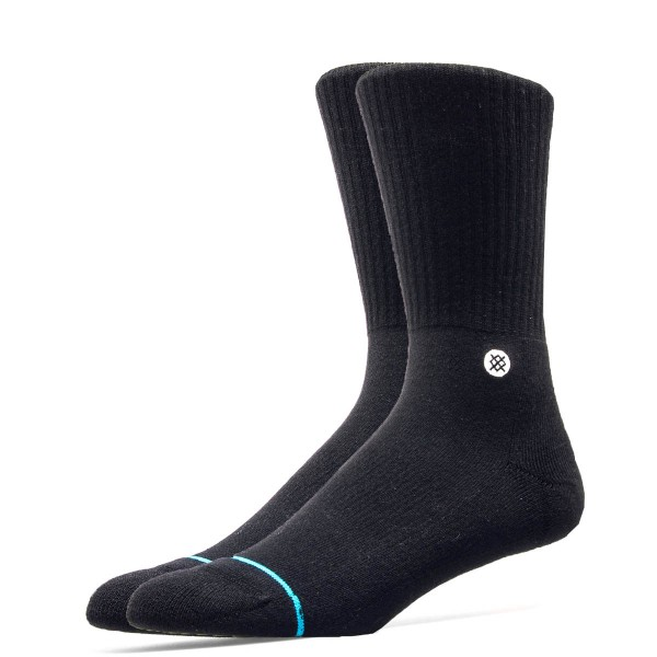 Stance Socks Uncommon Solids Icon Black