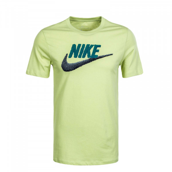 Herren T-Shirt M NSW Brand Mark Lime Light Irn Grey
