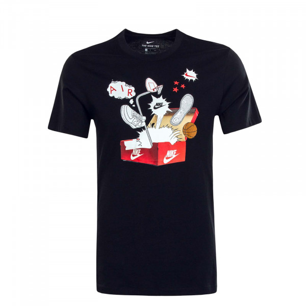 Herren T-Shirt NSW Shoebox Photo Black White Red