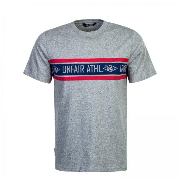 Unfair T-Shirt AthlStriped Grey Blue Red