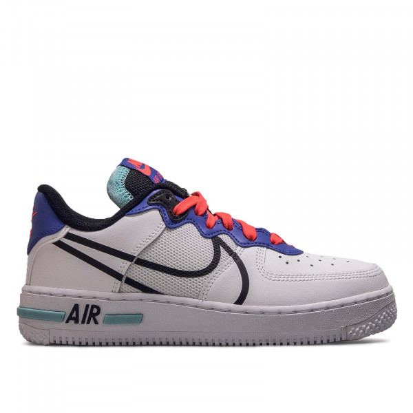 Damen Sneaker Air Force 1 React White Black Astro Blue