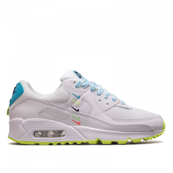 Damen Sneaker Air Max 90 Worldwide White Blue Fury