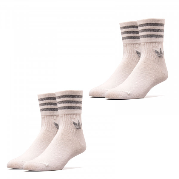 Socken 2er Pack - Crew Socks - White Reflective Silver