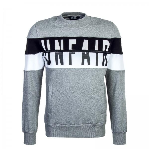 Unfair Sweat ContrastZippedCrewneck Grey