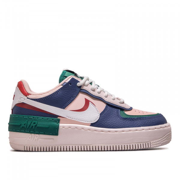 Damen Sneaker AF1 Shadow Navy White Pink Red