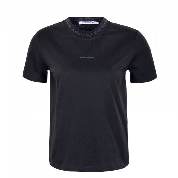 Damen T-Shirt - Logo Intarsia Tee - Black