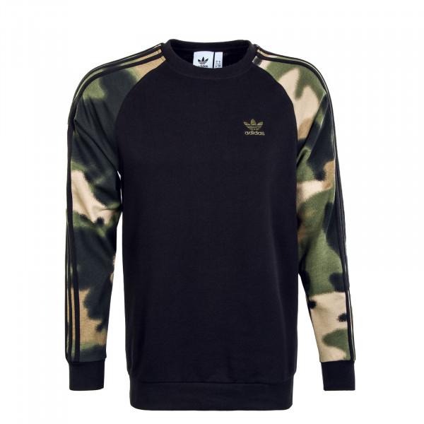 Herren Sweatshirt - Camouflage Crew Black WlPin Mulico