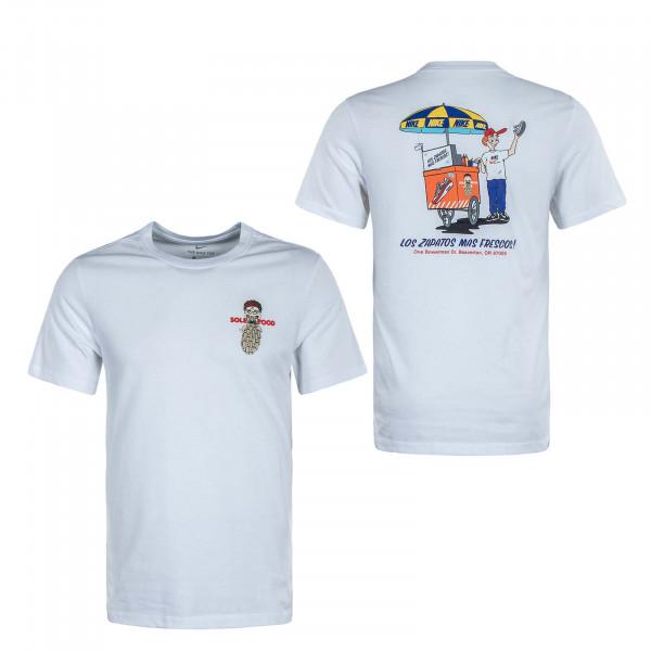 Herren T-Shirt Food Cart White