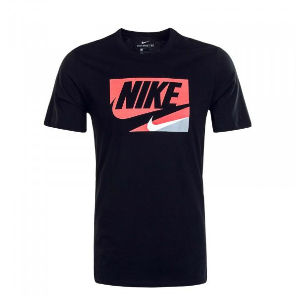 Herren T-Shirt NSW Core 1 Black Red