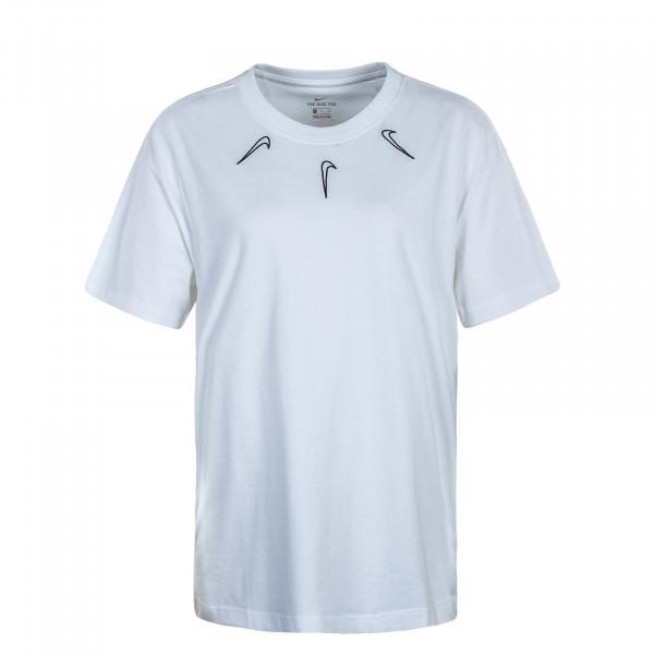 Damen T-Shirt Boy Mini Swoosh 2 White