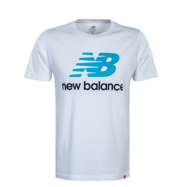 Herren T-Shirt - Essential ST Logo - White / Blue