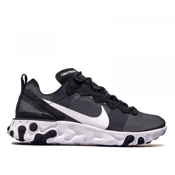 Herren Sneaker React Element 55 Black White