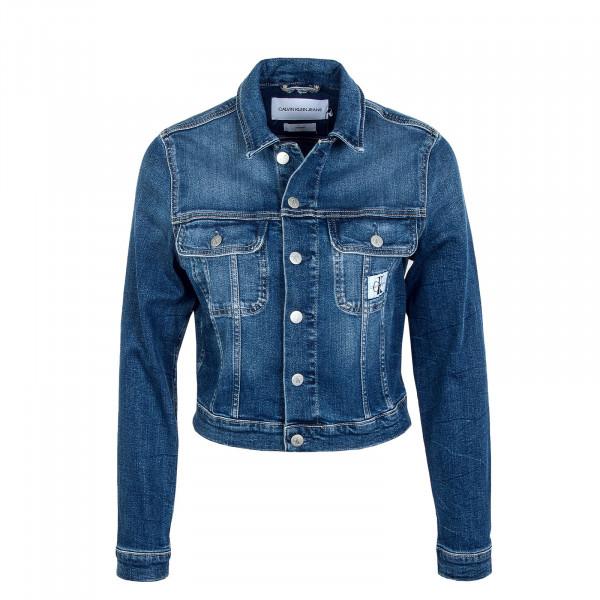 Damen Jeansjacke - Cropped 90's Denim Jacket - Dark Blue