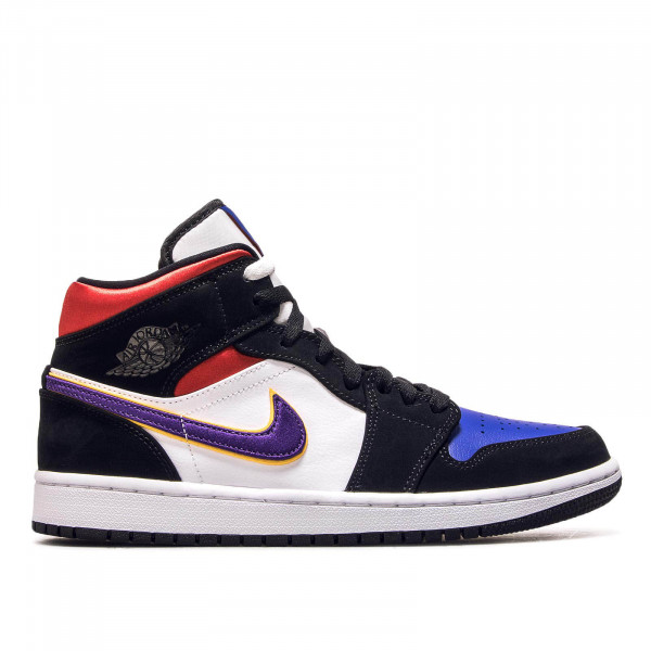Herren Sneaker Air Jordan 1 Mid SE Black White Blue