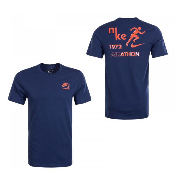 Herren T-Shirt Airathon Dstrd CT6873 Navy