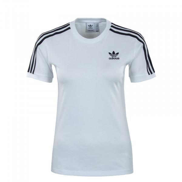 Damen T-Shirt - 3 Stripes - White