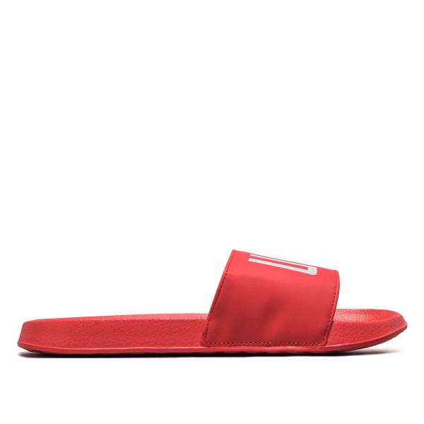 Herren Slide Strandtreter Red White