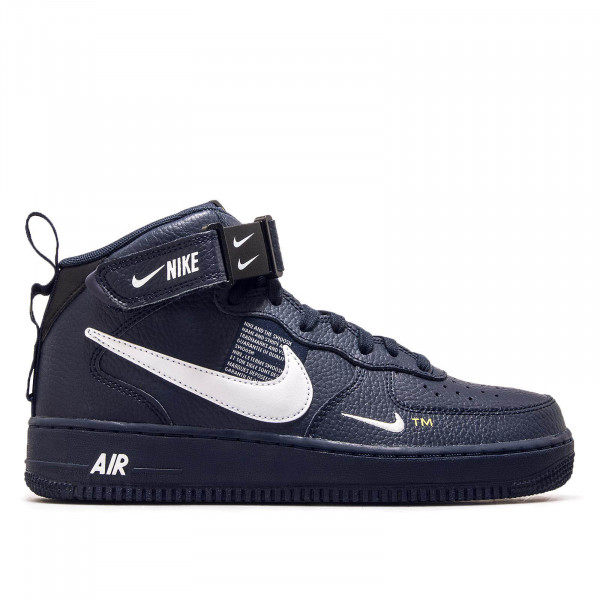 Nike Air Force 1 Mid Obsidian White Blk