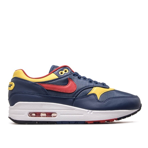 competitive price e0263 cf14e Nike Air Max 1 Premium Navy Red Yellow