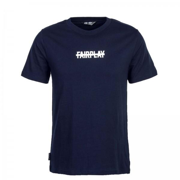 Unfair T-Shirt No Fairplay Navy