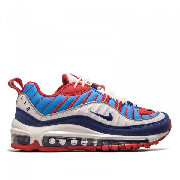 Damen Sneaker Air Max 98 White Blue Red Navy