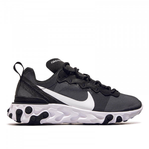 Damen Sneaker React Element 55 Black White