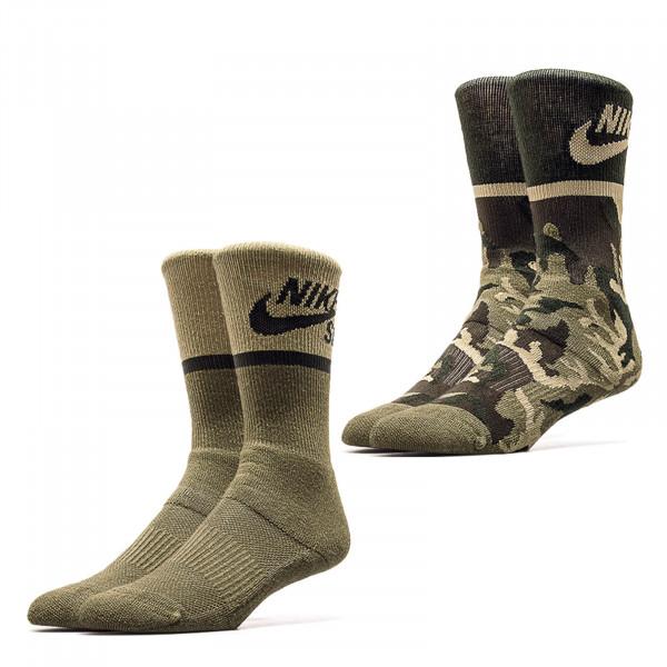 Nike SB Socks 2Pack Energie Olive Camo
