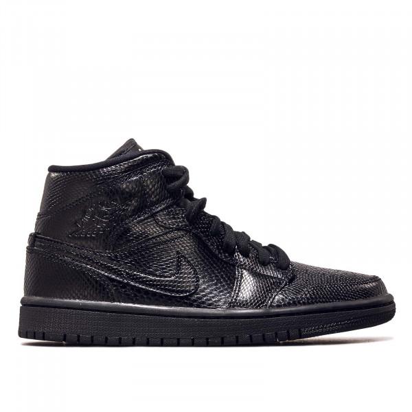 Damen Sneaker Air Jordan 1 Mid Black Black