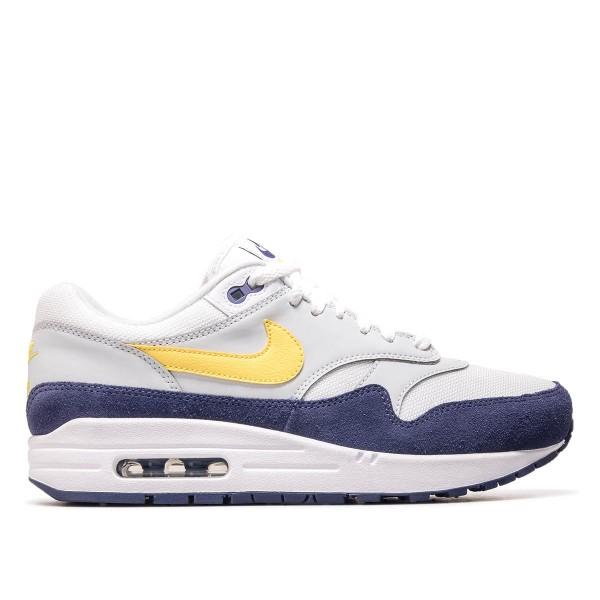 Nike Air Max 1 White Grey Navy Yellow