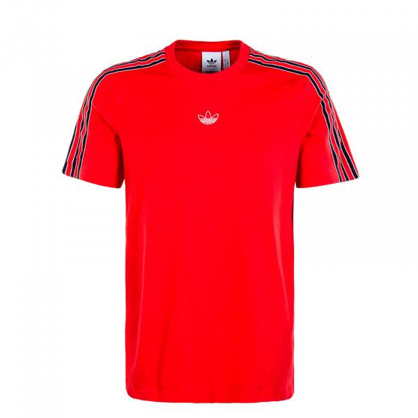 Herren T-Shirt - Sport 3 Stripe Viv - Red