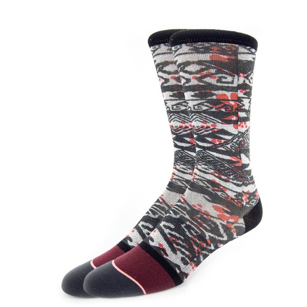 Stance Wmn Socks Telegraph Black Red