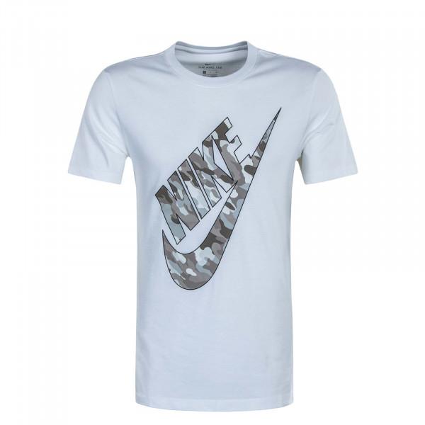 Herren T-Shirt NSW Club HBR Camouflage 2 White Grey