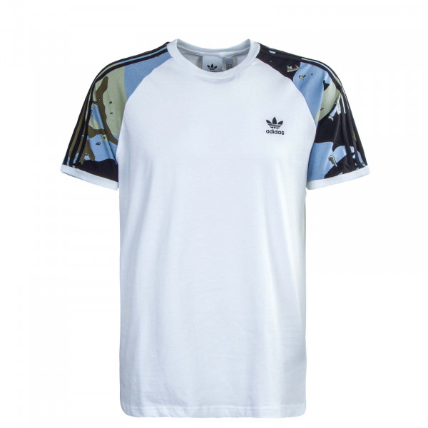 Herren T-Shirt - Camouflage Cali - White