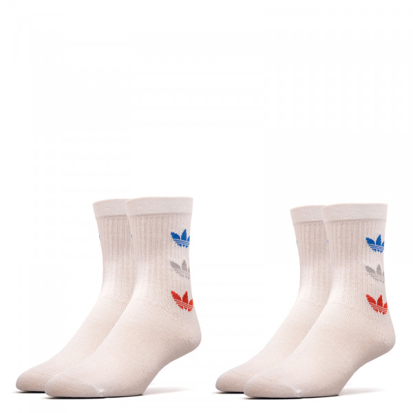 Socken 2er Pack - Tricolor Thin Ribbed - White