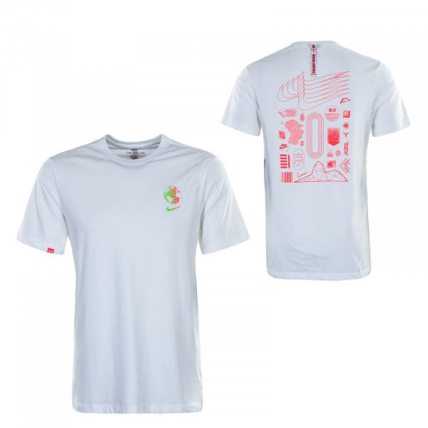 Herren T-Shirt Worldwide Globe White
