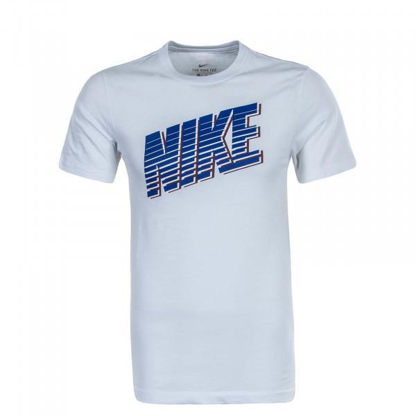 Herren T-Shirt Block CK2777 White Royal