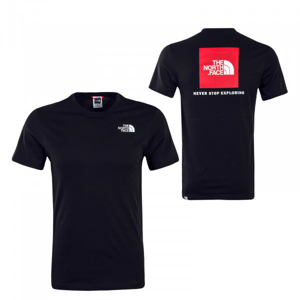 Herren T-Shirt Red Box Black