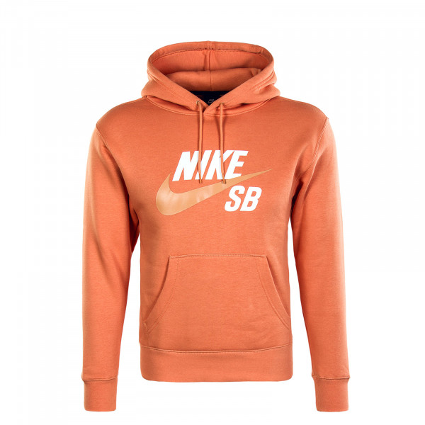 Herren Hoody - Icon Po Essential - Healing Orange / Amber Brown