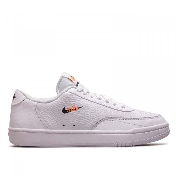 Herren Sneaker Court Vintage Prem White Black Total Orange