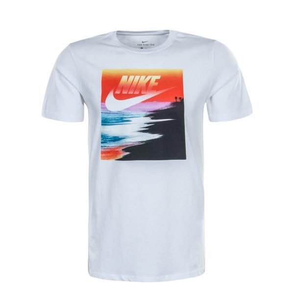 Herren T-Shirt Summer Photo White Red