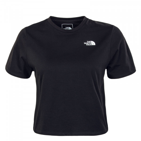 Damen T-Shirt Foundation Crop - Black